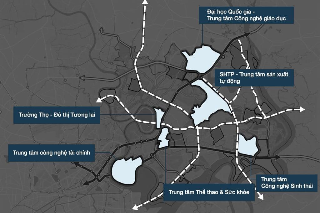3 Quận phía đông TPHCM sẽ là thành phố trong lòng thành phố